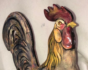 Large Ceramic Rooster