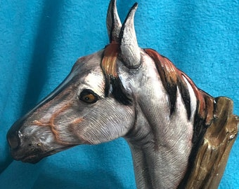 Driftwood Horse Ceramic Art using Mayco Softee Stains
