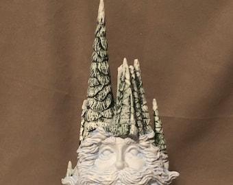 Santa Face in Trees