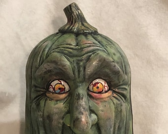 Zombie Pumpkin Ceramic Art