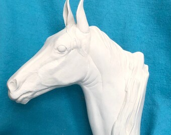 Driftwood Horse Ceramic Bisque ready to paint