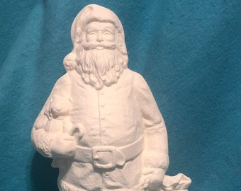 Traditional American Santa Claus Ceramic Bisque ready to paint