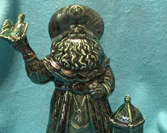 Bluegrass Glazed Ceramic Santa with fire flies