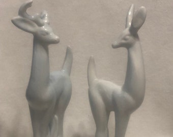 Blue Sheen Glazed Ceramic Deer