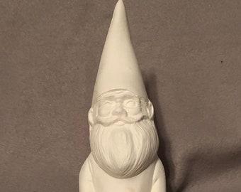 Sitting Gnome Ceramic Bisque