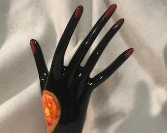 Glazed Ceramic Ring Hand