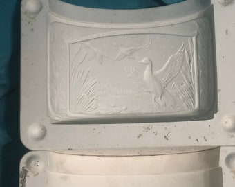 Lighted Decanter Mold with Duck Scene