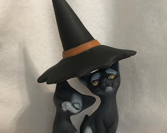 Halloween Kitty Witches