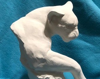 Driftwood Mountain Lion Ceramic Bisque
