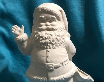 Duncan Molds Traditional Santa Claus in Ceramic Bisque ready to paint