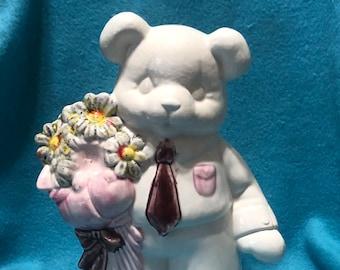 Glazed Ceramic Easter Bear