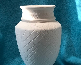 Decorative Vase Ceramic Bisque