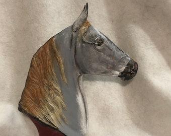 Horse Bust Ceramic Art