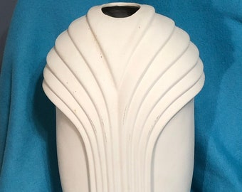 Large Decorative Ceramic Vase Bisque