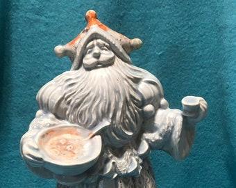 Glazed Ceramic Santa