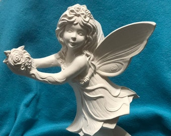 Garden Fairy Ceramic Bisque ready to paint