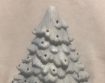 Sheer Blue Glaze Ceramic Christmas Tree
