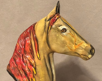 Ceramic Morgan Horse with Base