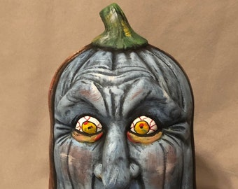 Blue Zombie Pumpkin
