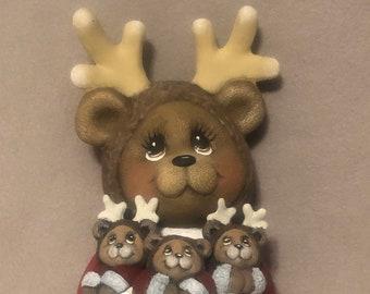 Santa Reindeer Ceramic Art