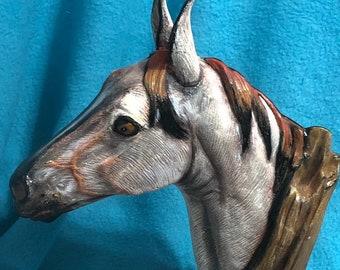 Driftwood Horse Ceramic Art