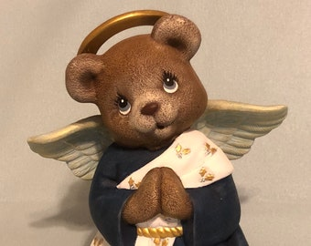 Ceramic Clay Magic's Male Angel Bear dry brushed using Mayco Softee Stains