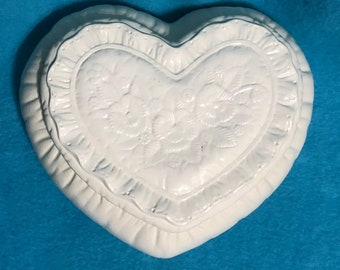 Milk Glass Ceramic Jewelry Box or Candy Dish