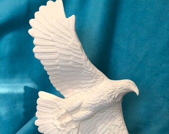 American Eagle in ceramic bisque ready to paint (currently out of stock and will not be available until later this year)
