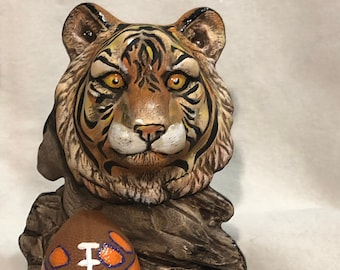 Clemson Tiger Ceramic Art