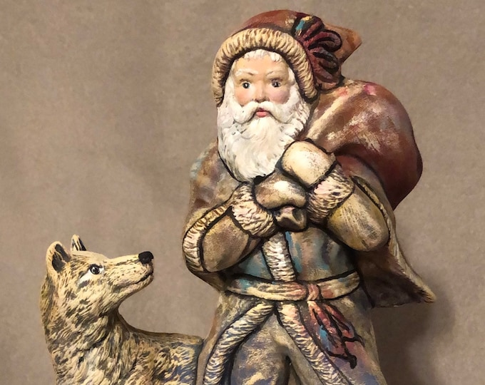 Featured listing image: Indian Santa with Wolf using Mayco Softee Stains