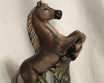 Dry Brushed Ceramic Horse