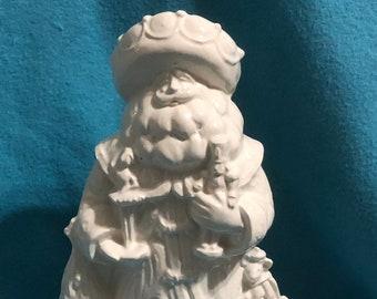 Milk Glazed Ceramic Nutcracker Santa