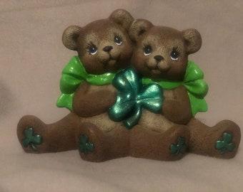 Irish Cuddle Bears Ceramic Art