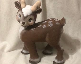 Large Ceramic Christmas Deer