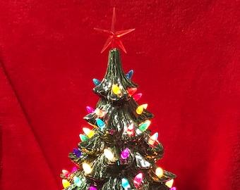 Glazed Ceramic Christmas Tree