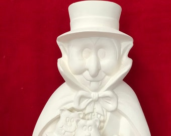 Clay Magics Dracula in ceramic bisque ready to paint