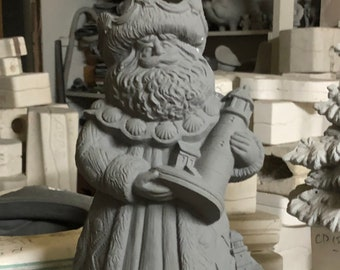 """Rare 15"""" Ceramic Gare Lighthouse Santa in bisque ready to paint (bisque pic coming soon)"""