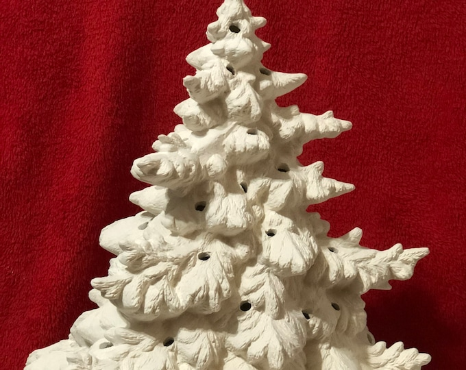 Featured listing image: Large Frazier Fir Ceramic Tree in bisque ready to paint