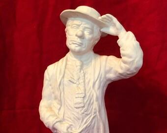Vintage Gentleman in ceramic bisque ready to paint by jmdceramicsart