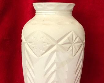 Vintage Decorative Vase in ceramic bisque ready to paint