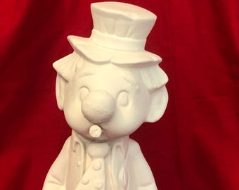 Rare Kimple Molds Clown in ceramic bisque ready to paint bisque pic coming soon