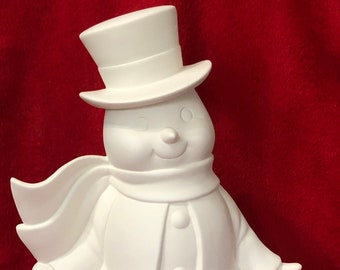 Mayco's Vintage Snowman in ceramic bisque ready to paint