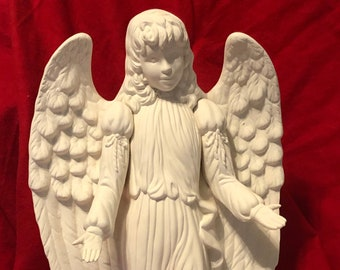 Kimple Molds Angel in ceramic bisque ready to paint