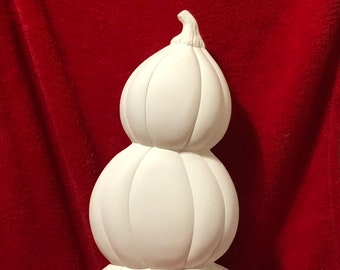 Mayco Large Ceramic Pumpkin Stack with in bisque ready to paint