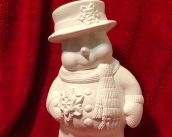 Clay Magics Snowman in ceramic bisque ready to paint