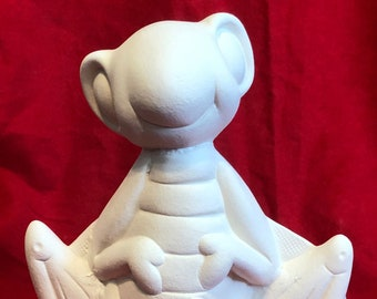 Anna Hoppin Grasshopper in ceramic bisque ready to paint by jmdceramicsart
