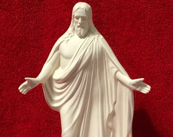 Rare ceramic statue of Jesus Christ in bisque ready to paint