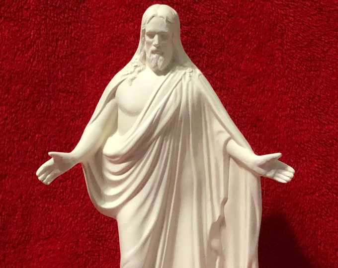 Featured listing image: Rare ceramic statue of Jesus Christ in bisque ready to paint