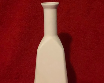 Vintage Bottle Vase in Ceramic Bisque ready to paint