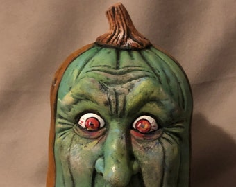Another Ceramic Zombie Pumpkin dry brushed using Mayco Softee Stains